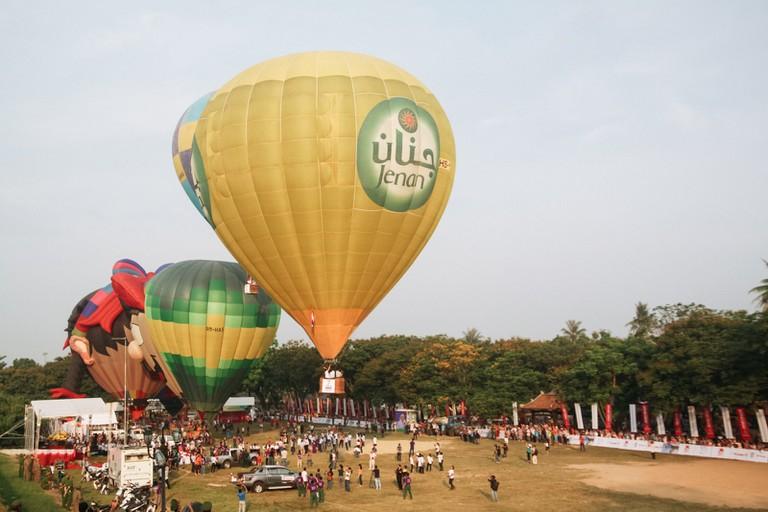 Hue Festival's Hot air balloon show