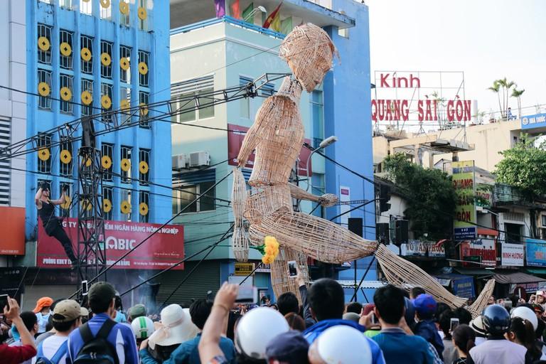 Impressive art installations seen in Hue, 2018