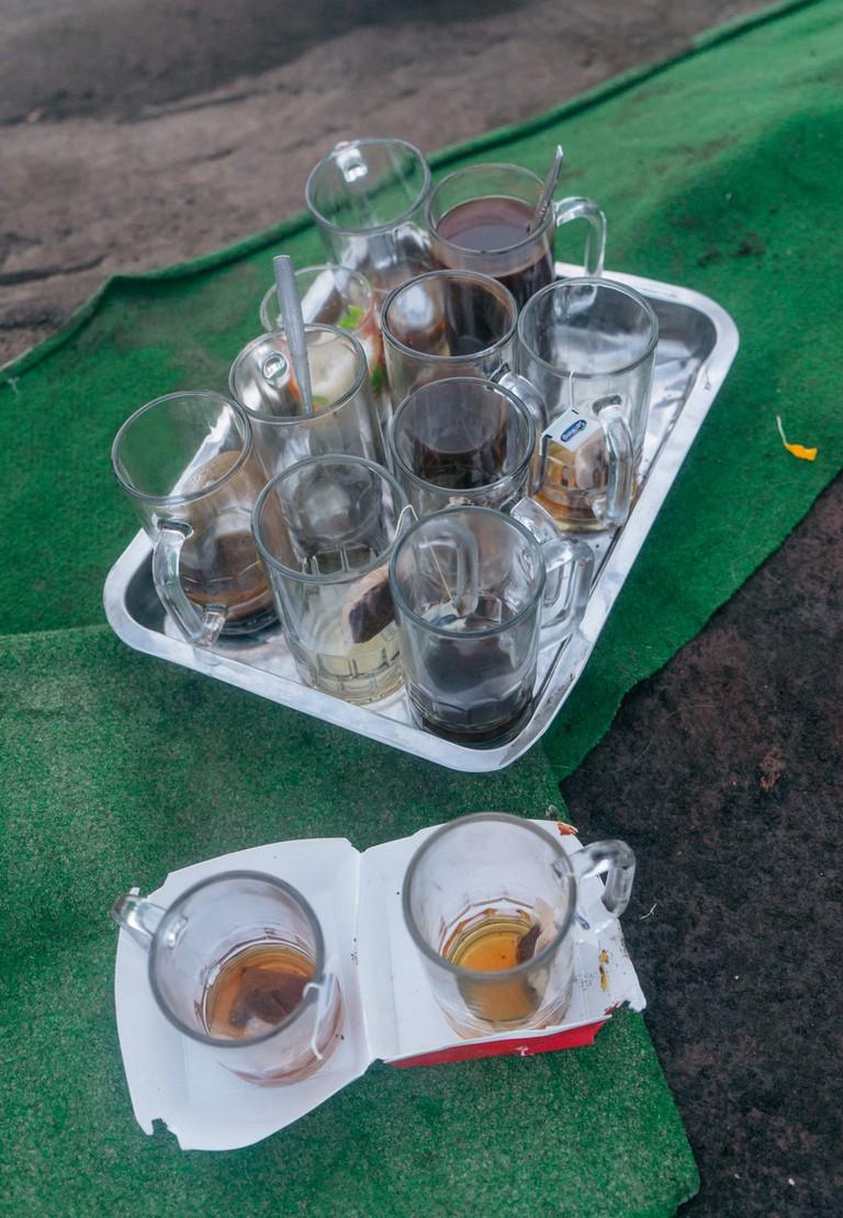 Trays of tea