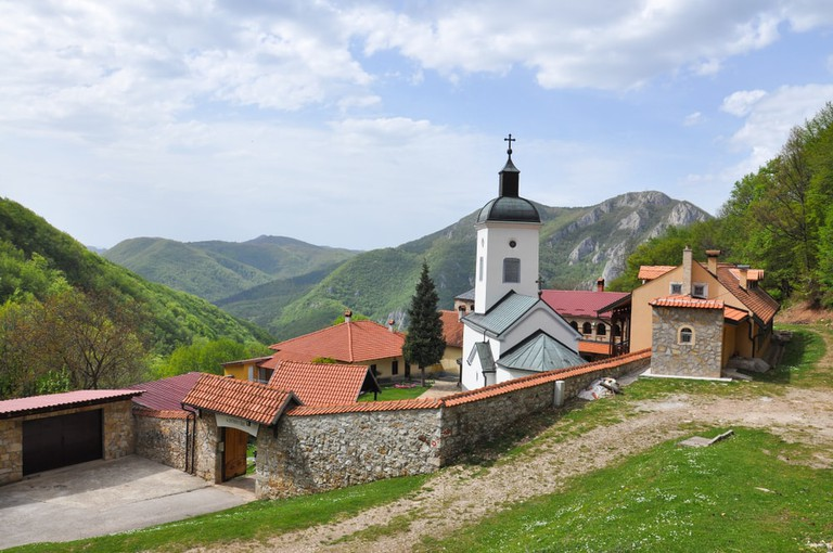 Orthodox monastery on Ovcar mountain, Serbia