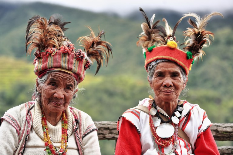 Some elderly Ifugaos, Banaue, Philippines
