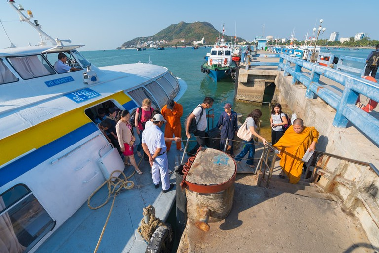 Arriving in Vung Tau, Vietnam