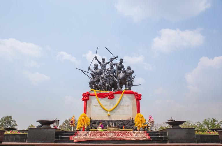 Bang Rachan Heroes Monument in Singburi, Thailand