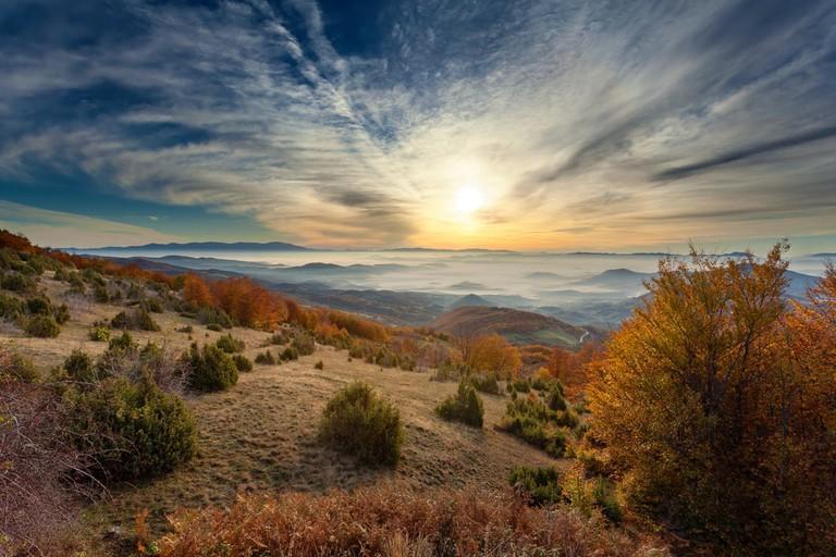 Autumn scenery on Golija mountain, Serbia