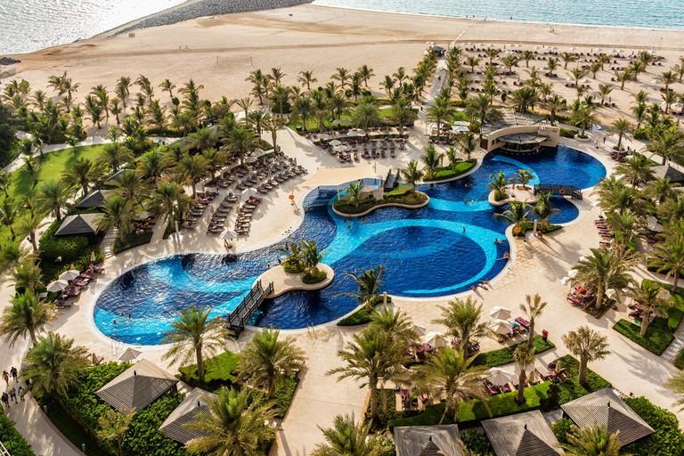 The luxury 5 stars DoubleTree by Hilton Hotel Resort and Spa Marjan Island, RAK, United Arab Emirates