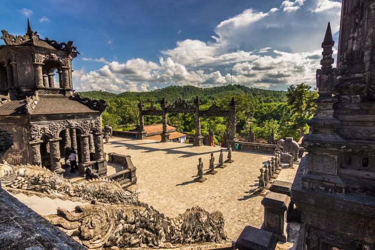Khai Dinh tombs in Hue, Vietnam