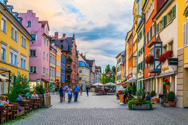 Main street in Lindau, Germany