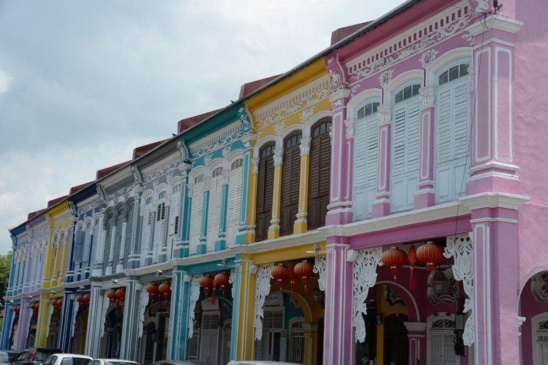 Explore the city and see the colourful heritage buildings lining the streets