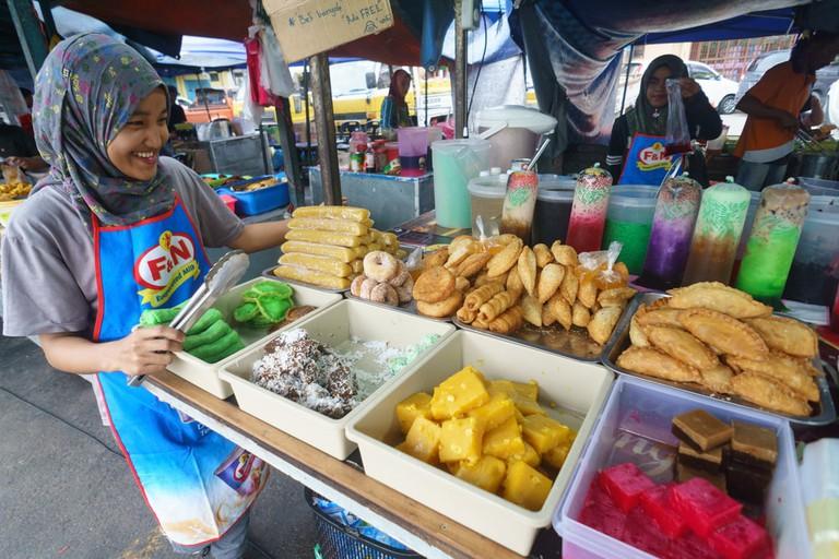 Street food in Kota Kinabalu Sabah, Malaysia