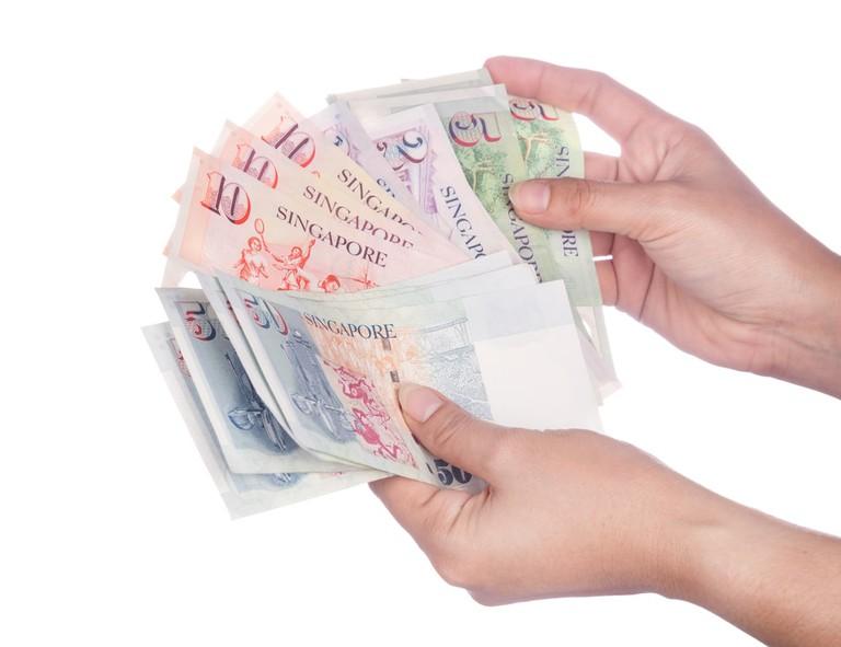 Singapore banknotes dollars  