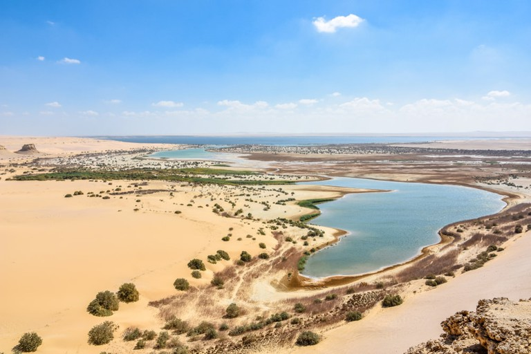 Lake Moeris in Fayoum, Egypt
