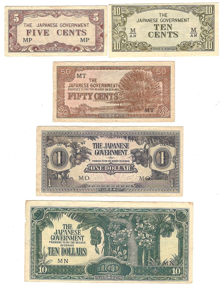 Malayan Banana Notes Japanese Occupation