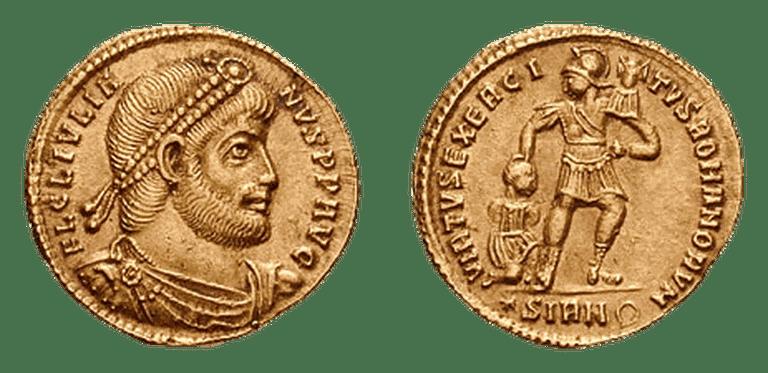 Solidus from reign of Flavius Claudius Julianus