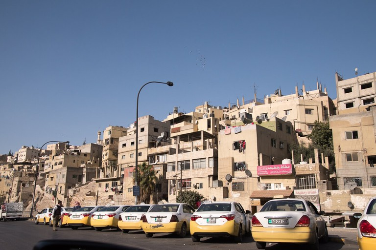 Taxis in East Amman