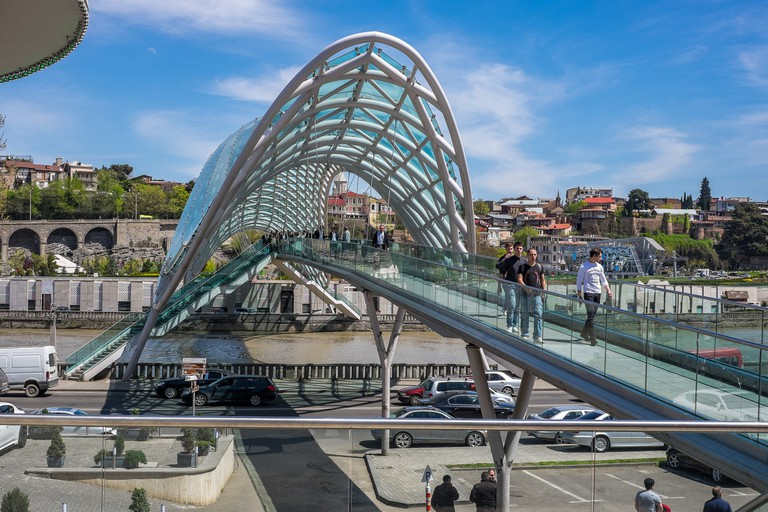 Peace Bridge in Tbilisi
