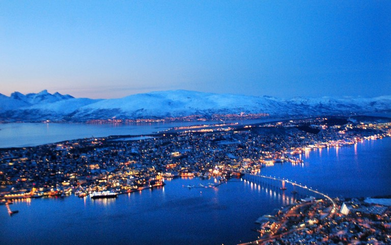 The blue light of polar nights in Tromsø, Courtesy of Visit Tromsø