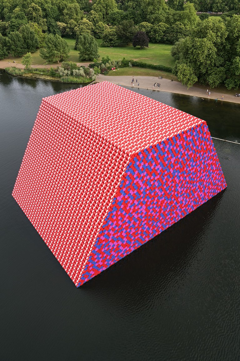The London Mastaba, Serpentine Lake, Hyde Park, 2016-18