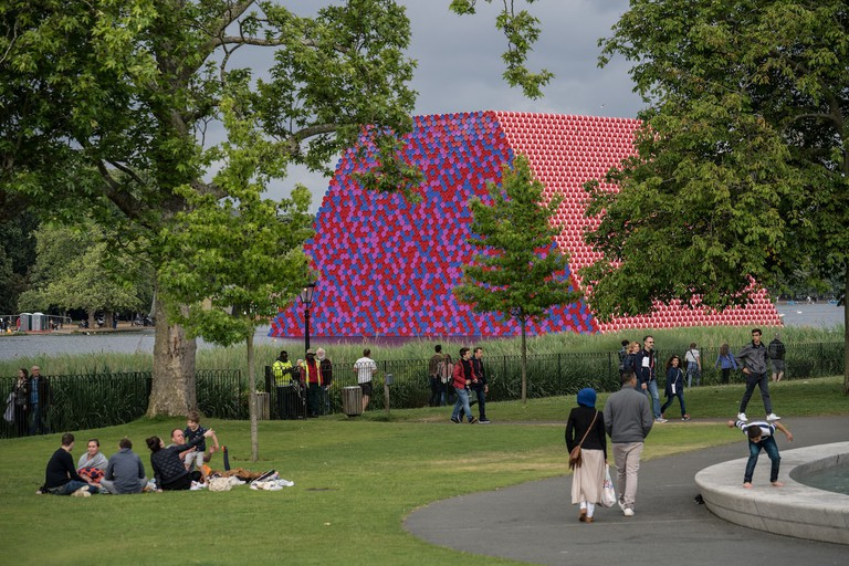 The London Mastaba - The London Mastaba, Serpentine Lake, Hyde Park, 2016-18 (3)