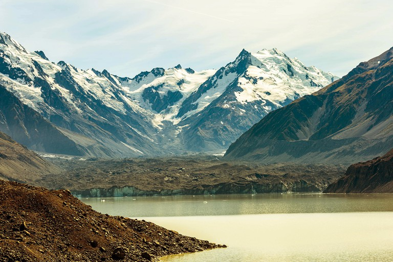 24km long, up to 4km wide and 600m thick - the Tasman Glacier