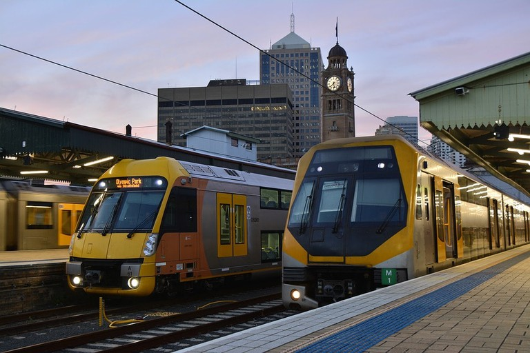 Trains at Sydney's Central Station