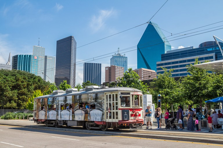 The McKinney Avenue Trolley provides free trolley rides throughout Uptown