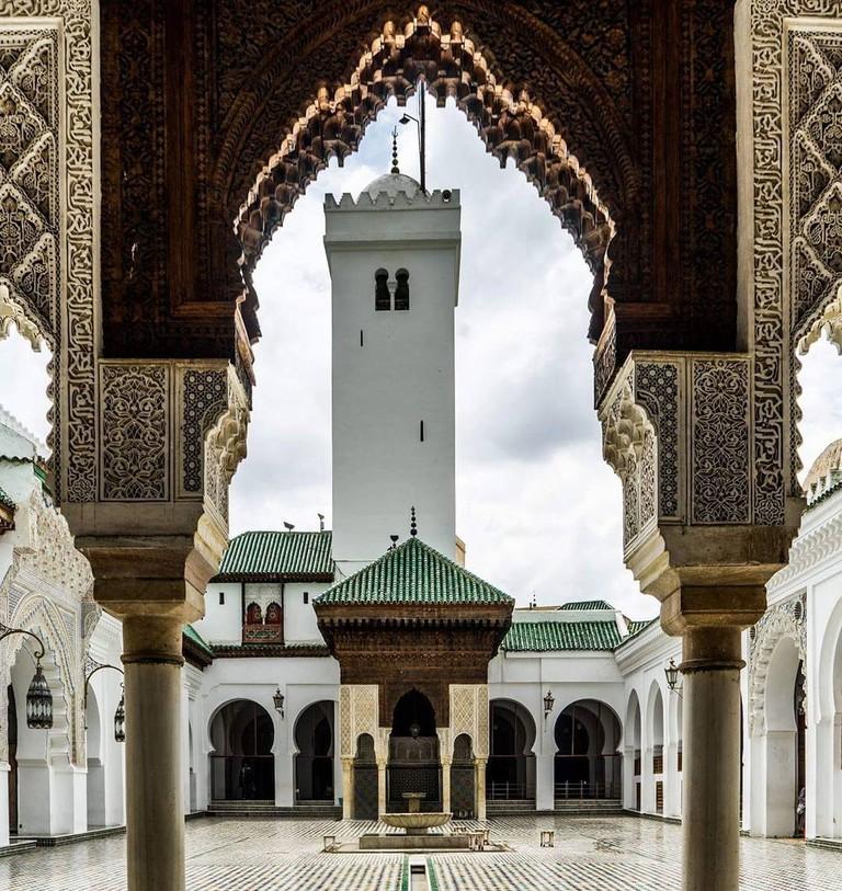 The inside of Al-Qarawiyyin University