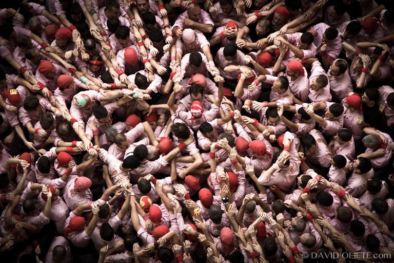 The building of a human tower