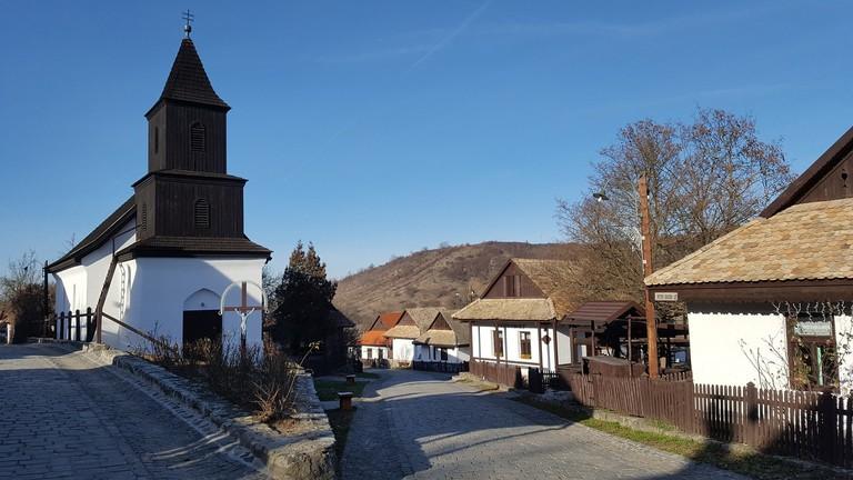 The cute village of Hollókő