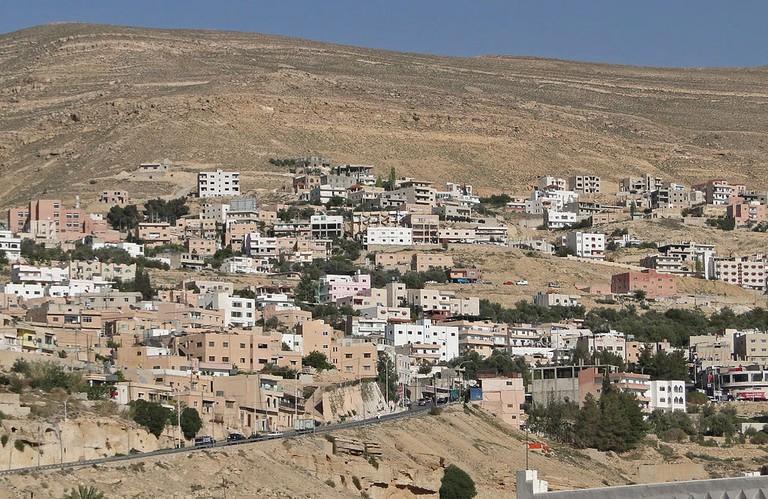 A view of Wadi Musa, Jordan