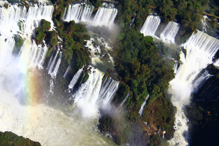 Aerial view over the waterfalls
