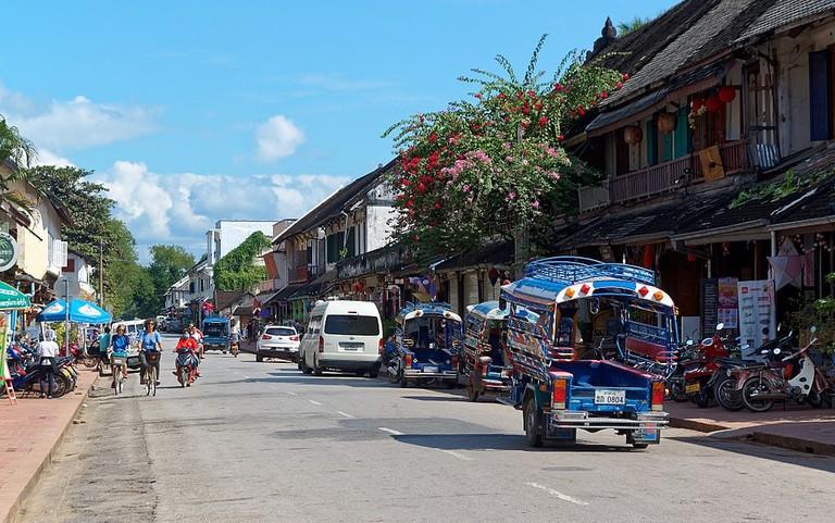 Sisavangvong Road in Luang Prabang, Laos