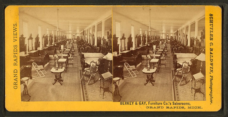 Berkey & Gay Furniture Co.'s sales rooms, Grand Rapids, Michigan