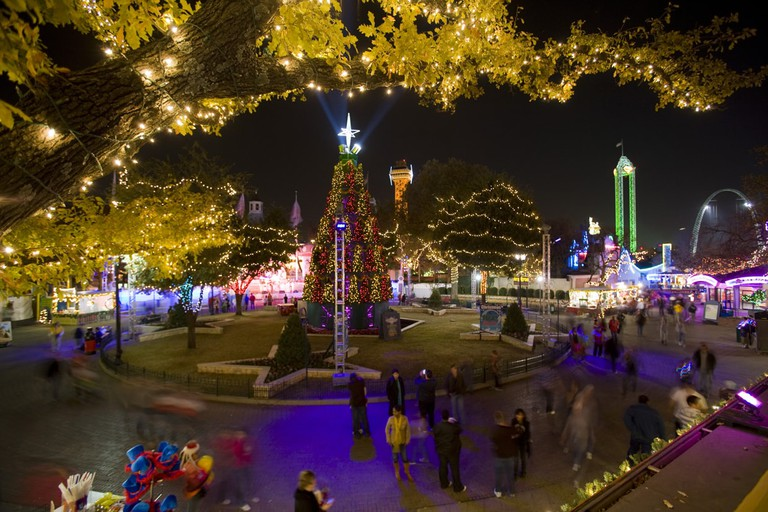 Holiday in the Park at Six Flags Over Texas is a festive nighttime holiday event
