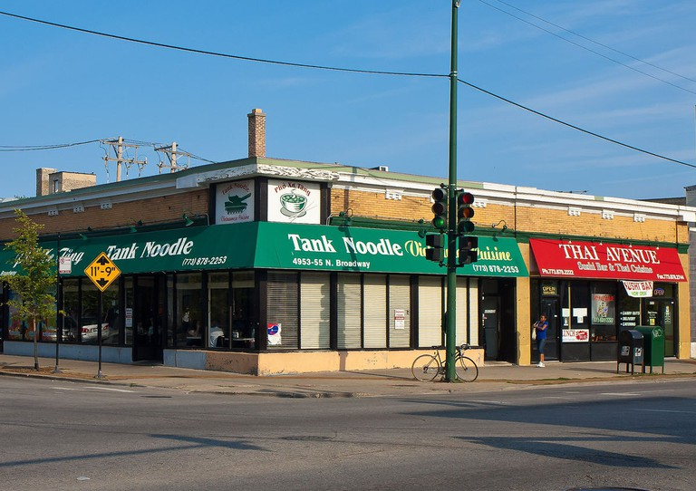 Tank Noodle off the Argyle stop in Chicago's Uptown neighborhood