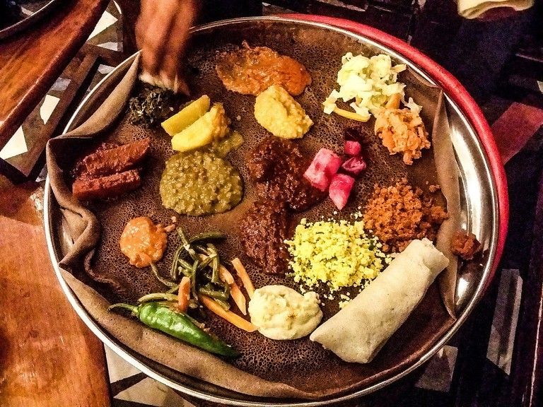 Chicago's Thorndale Red Line stop is a great place to find traditional Ethiopian food