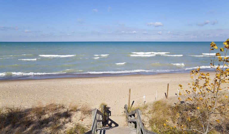The Indiana Dunes offer tons of outdoor activities just an hour outside Chicago.