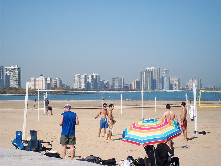 Montrose Beach in Chicago is the perfect spot for relaxing and playing