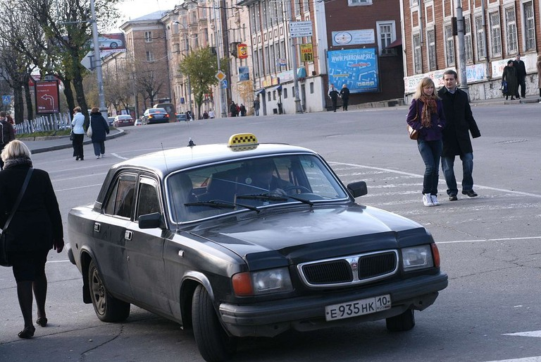 An old Russian taxi