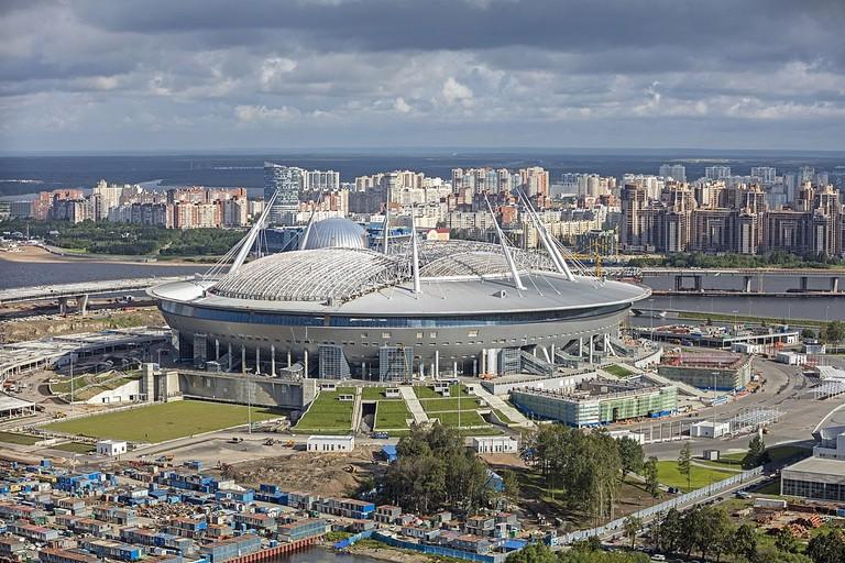 Bird's-eye view of St Petersburg Stadium