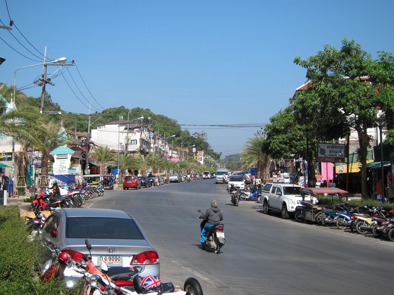 Taxis aren't a common sight on Krabi's streets