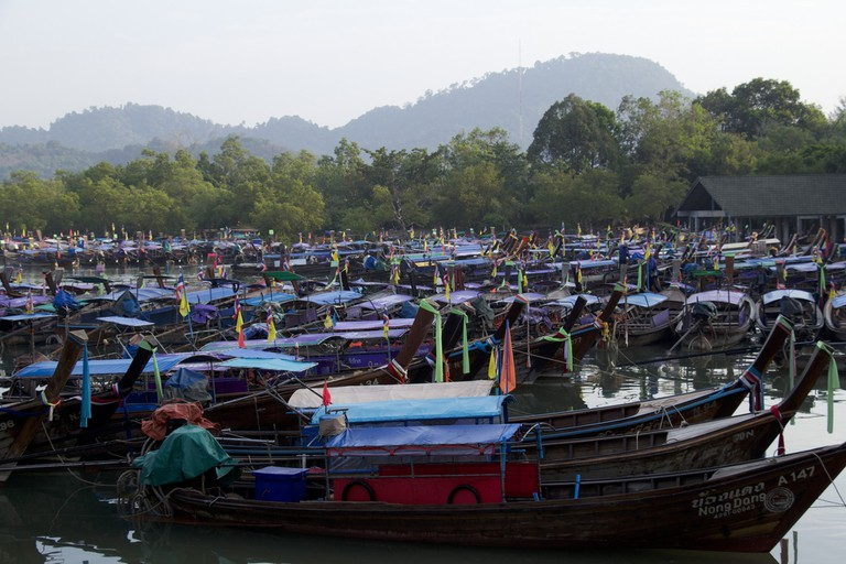 Krabi has many boats!