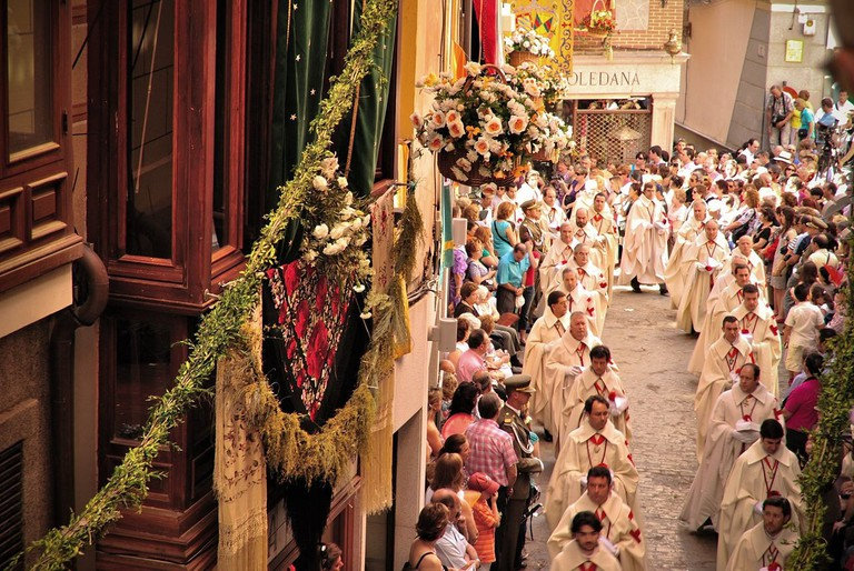 Corpus Christi celebrations in Toledo, Spain
