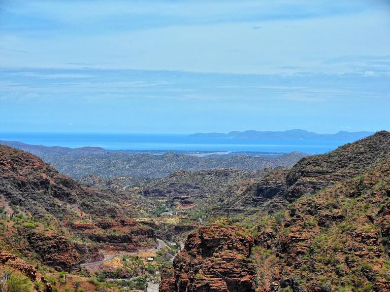Sierra de la Giganta, a mountain range right behind Loreto, makes for a stunning hike