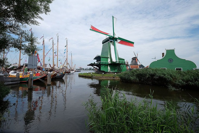 It is possible to enter many of the windmills at Zaanse Schans