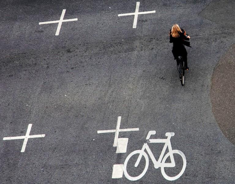 biking Denmark black clothes