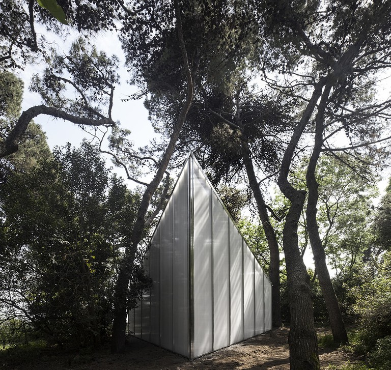 Andrew Berman's design for the Vatican Chapels presentation at the Biennale Architettura 2018