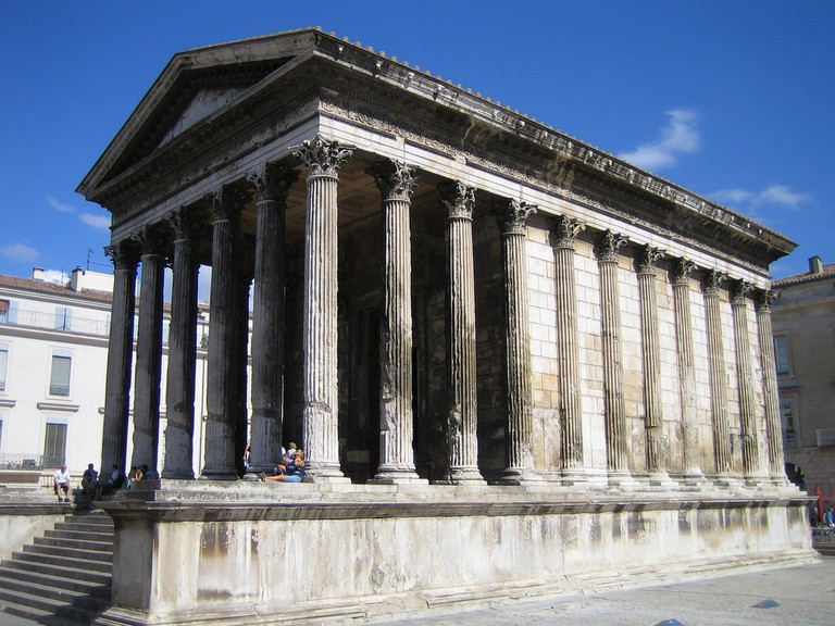 The imposing Maison Carrée in Nimes