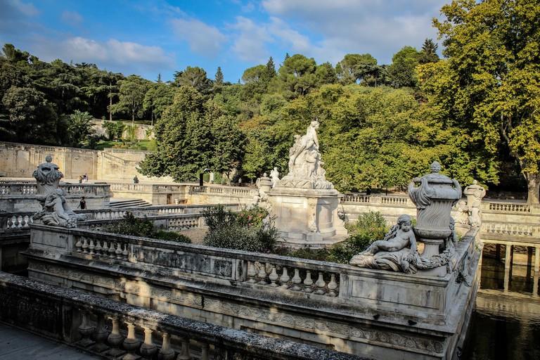 Jardin de la Fontaine in Nimes, France
