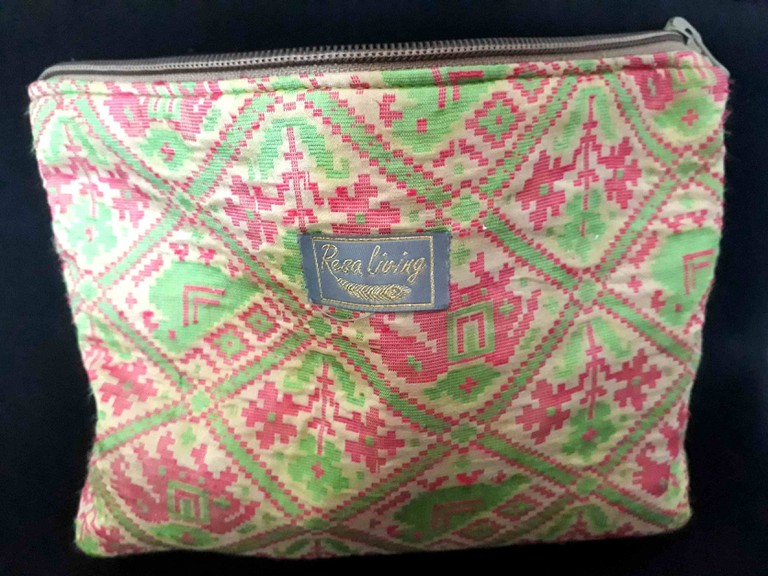 Resa Living purse made from unusual Dhaka cloth