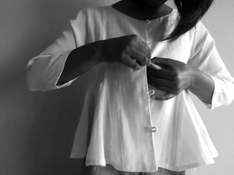 Ekadesma's clothes are made from natural, locally produced fabrics
